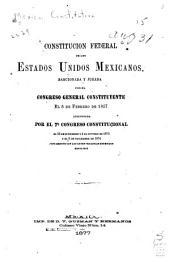 Constitución federal de los Estados Unidos Mexicanos