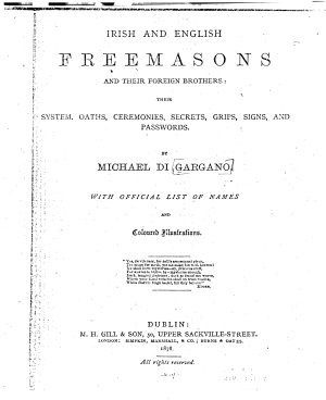 Irish and English Freemasons and Their Foreign Brothers PDF