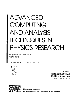 Advanced Computing and Analysis Techniques in Physics Research