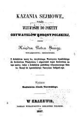 Kazania sejmowe, także wzywanie do pokuty obywatelów korony polskiej