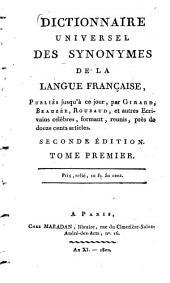 Dictionnaire universel des synonymes de la langue française: A - D, Volume1