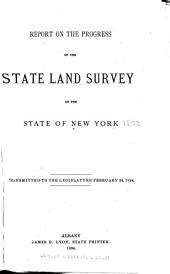 Report on the Progress of the State Land Survey of the State of New York