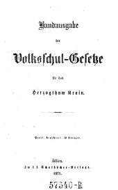 Handausgabe der Volksschulgesetze für das Herzogthum Krain