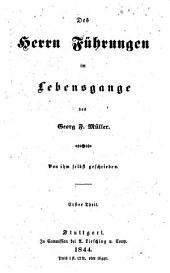 Des Herrn Führungen im Lebensgange des Georg Müller