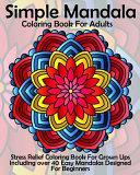 Simple Mandala Coloring Book for Adults