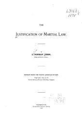 The Justification of Martial Law
