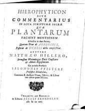Hierophyticon sive commentarius in loca scripturae sacrae, quae plantarum faciunt mentionem