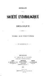 Bulletin & annales: Volume19