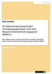 Die Bilanzierung immaterieller Vermögensgegenstände nach dem Bilanzrechtsmodernisierungsgesetz (BilMoG): Eine Abgrenzung zu International Accounting Standards (IAS)/ International Financial Reporting Standards (IFRS)