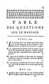 Conférences ecclésiastiques du diocèse d'Angers...tenues pendant les années 1709 et suivantes...