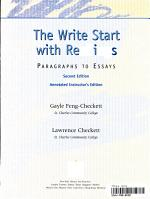 The Write Start with Readings PDF