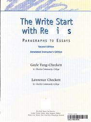 The Write Start With Readings Book PDF