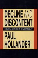 Decline and Discontent PDF