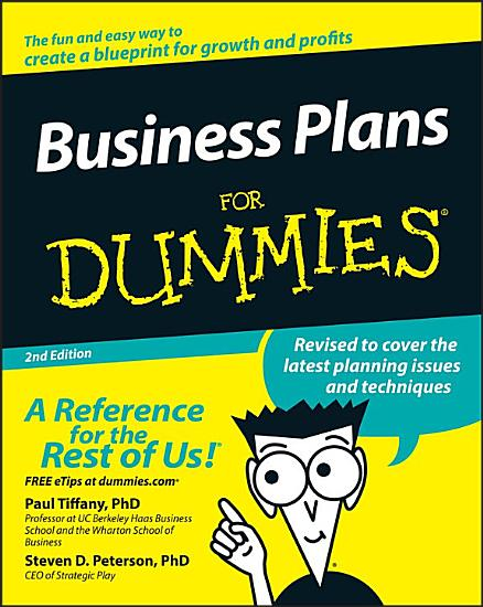 Business Plans For Dummies PDF