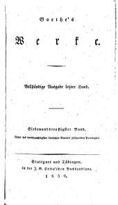 Goethe's werke: Bände 37-38