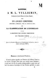 Lettre à M.L. Vulliemin sur un ancien cimetière découvert à Berolles, dans le Canton de Vaud, sur la classification de l'entrelacs et sur l'adoption par l'école chrétienne de l'imagerie païenne