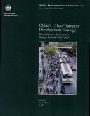 China's Urban Transport Development Strategy