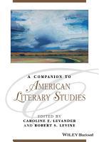A Companion to American Literary Studies PDF