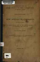 Descriptions of New Species of Cambarus: To which is Added a Synonymical List of the Known Species of Cambarus and Astacus