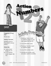 Counting--Action Numbers Activity