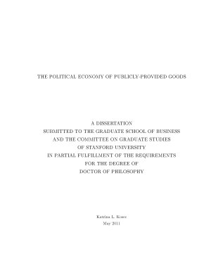 The Political Economy of Publicly provided Goods