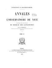 Annales de l'Observatoire de Nice ...