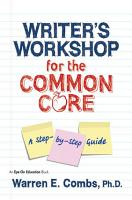 Writer s Workshop for the Common Core PDF