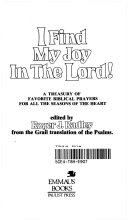 I Find My Joy in the Lord