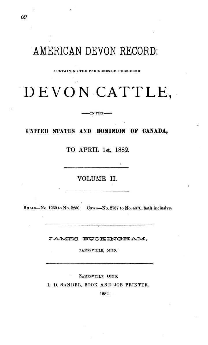 American Devon Record