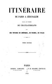 Itinéraire de Paris a Jérusalem: Volume2
