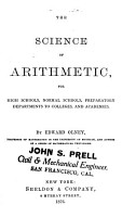 The Science of Arithmetic PDF