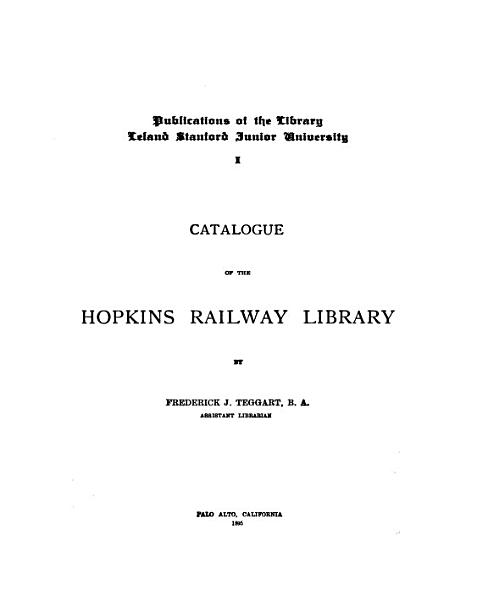 Download Catalogue of the Hopkins Railway Library Book