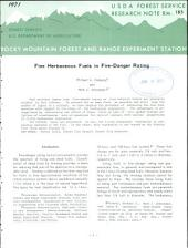 Fine herbaceous fuels in fire-danger rating