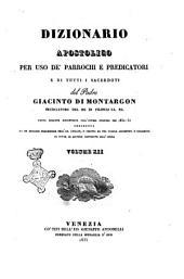 Dizionario apostolico per uso de' parrochi e predicatori e di tutti quelli destinati al sacerdozio del padre Giacinto di Montargon ..: Volume 12