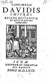 Catechesis recens recognita et multis definitionibus aucta. - Jeane, Christ. Rhodius 1569