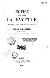 Notice sur le général Lafayette