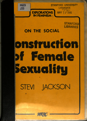 On the Social Construction of Female Sexuality PDF
