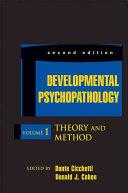 Developmental Psychopathology  Volume 1 PDF