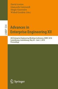 Advances in Enterprise Engineering XII PDF