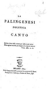 La Palingenesi politica. Canto