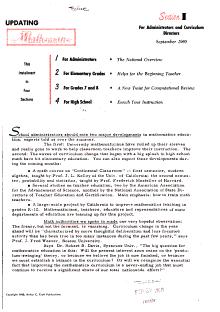 Updating Mathematics PDF