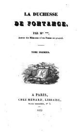 La duchesse de Fontange: Volume1