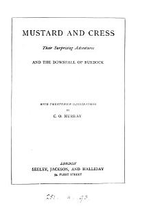 Mustard and Cress  their surprising adventures Book