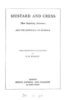 Mustard and Cress  their surprising adventures