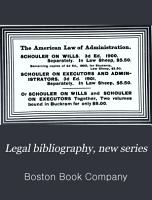 Legal Bibliography  New Series PDF