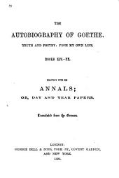 The Autobiography of Goethe: Volume 2