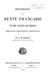 Historique de la rente française et des valeurs du trésor: système de Law, Caisse d'éscompte, Banque de France