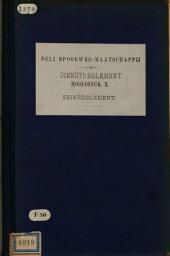 Dienstreglement Deli Spoorweg-Maatschappij: Volume 10