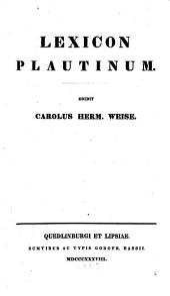 Lexicon Plautinum