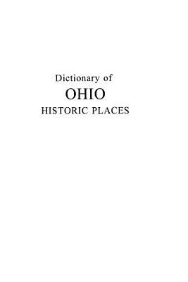 Ohio Historic Places Dictionary PDF